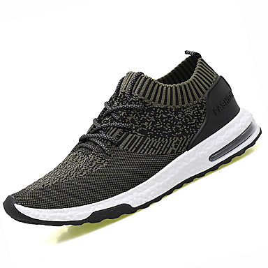 Miesten kengät PU Kevät Kesä Comfort Urheilukengät Kävely varten Kausaliteetti Musta Vihreä