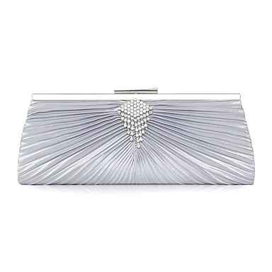 Women Bags Silk Evening Bag Rhinestone Sparkling Glitter Pleated for Wedding Event/Party Casual Sports Formal Outdoor Office & Career