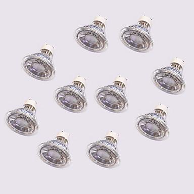 10pçs 5W 420lm GU10 Lâmpadas de Foco de LED 1 Contas LED COB Branco Quente / Branco / 10 pçs