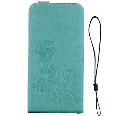 Capinha Para Samsung Galaxy S8 Plus S8 Porta-Cartão Carteira Com Suporte Flip Estampada Com Relevo Capa Proteção Completa Côr Sólida Flor