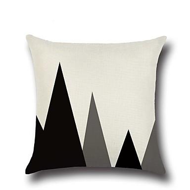 1 Stück Baumwolle/Leinen Kissenbezug,Geometrische Muster Modisch NeuheitGeometrisch Retro Freizeit Neoklassisch Europäisch