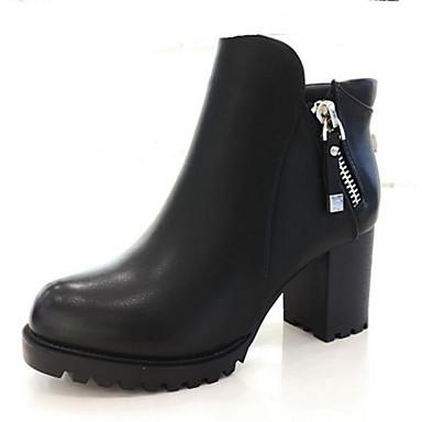 Naiset Sandaalit Comfort Kevät PU Kausaliteetti Musta 2-2,75in