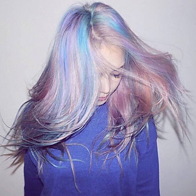 Synteettiset peruukit Suora Tiheys Suojuksettomat Naisten Violetti Luonnollinen peruukki Pitkä Synteettiset hiukset