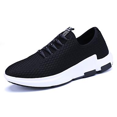 Homens sapatos Couro Ecológico Primavera Outono Conforto Tênis para Casual Preto