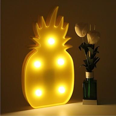 3d levou noite luz abacaxi noite lâmpada lâmpada de mesa romântica caseira casa natal decoração bateria led nightlight