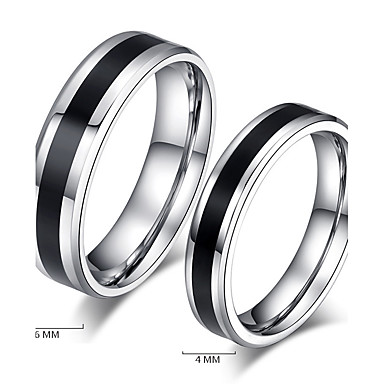 Couple's Couple Rings / Band Ring / Ring - Vintage, Simple Style 5 / 6 / 7 Black For Wedding / Party / Daily