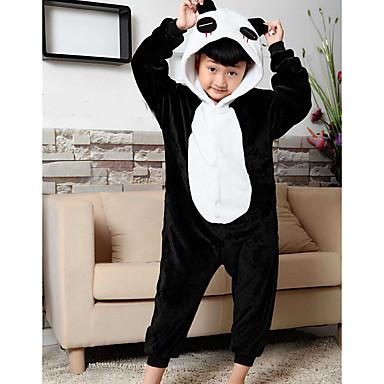 Kinder Kigurumi-Pyjamas Panda Pyjamas-Einteiler Flanell Vlies Schwarz Cosplay Für Jungen und Mädchen Tiernachtwäsche Karikatur Fest / Feiertage Kostüme