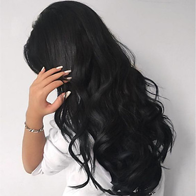 Přírodní vlasy Se síťovanou přední částí Paruka Přírodní vlny 130% Hustota 100% ručně vázaná Afroamerická paruka Přírodní vlasová linie