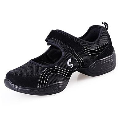 Naisten Kengät PU Kevät Kesä Sandaalit Matala korko varten Musta Punainen