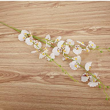 Künstliche Blumen 1 Ast Europäischer Stil Orchideen Tisch-Blumen