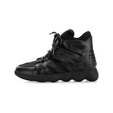 Dámské Boty Nappa Leather Kůže Jaro Pohodlné Tenisky Pro Ležérní Bílá Černá Červená - černá