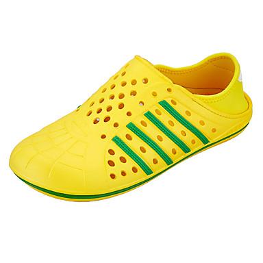 Damen Schuhe PU Sommer Fersenriemen Sandalen Blockabsatz Für Normal Gelb Grün