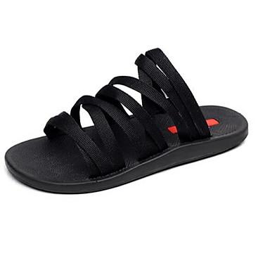 Damen Schuhe PU Frühling Komfort Sandalen Für Normal Schwarz