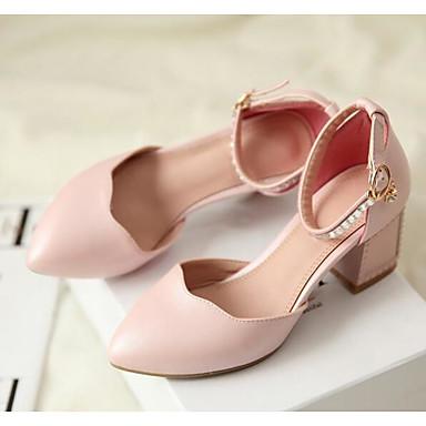 Naiset Sandaalit PU Kevät Valkoinen Sininen Pinkki Tasapohja