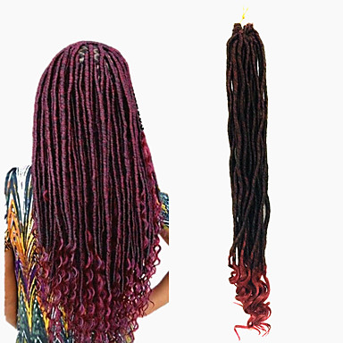 Braiding Hair Dreadlocks / Faux Locs 100% kanekalon hair 24 roots / pack Hair Braids Dreadlock Extensions / Dreads Locs / Crochet Faux Dreads