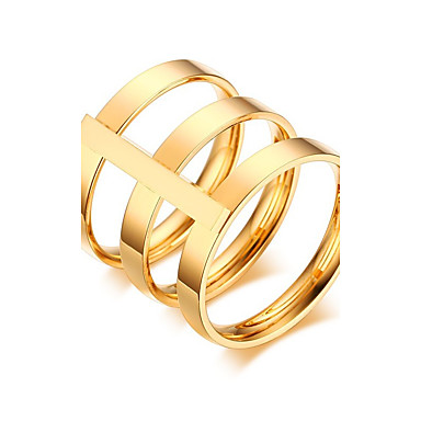 Women's Band Ring - Rose Gold, Gold Plated Vintage, Punk 6 / 7 / 8 Gold / Rose Gold For Wedding / Anniversary / Party / Evening / Daily
