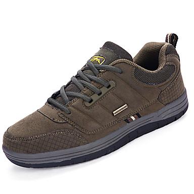 Homens sapatos Couro Ecológico Primavera Outono Conforto Tênis para Casual Preto Verde Camel