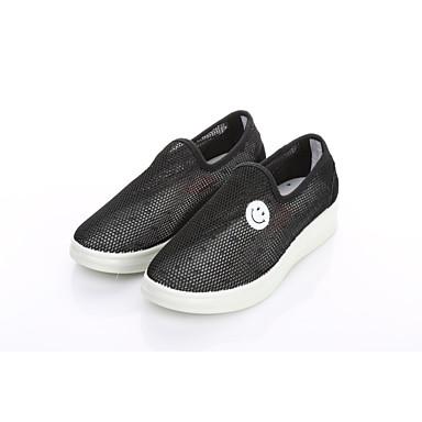 Damen Schuhe Tüll Frühling Sommer Leuchtende Sohlen Komfort Loafers & Slip-Ons Walking Creepers Runde Zehe für Normal Büro & Karriere