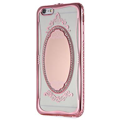 Capinha Para Apple iPhone 7 Plus iPhone 7 Espelho Estampada Capa traseira Glitter Brilhante Lace Impressão Macia TPU para iPhone 7 Plus
