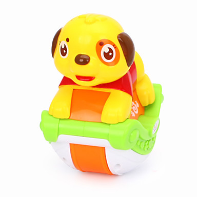 HUILE TOYS Acessório para Casa de Boneca Brinquedos de Montar Brinquedo Educativo Cachorros Animais Música Simulação Desenho Adorável Bebê