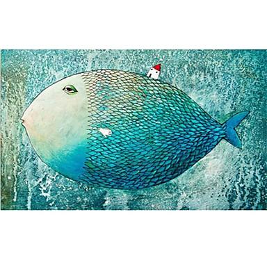 Quebra-Cabeça Quadrada Inovador Pato Peixes De madeira Madeira Unisexo Dom