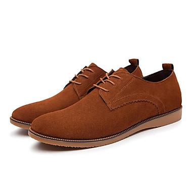 Miehet Oxford-kengät Mokkanahka Kevät Musta Kahvi Sininen Tasapohja