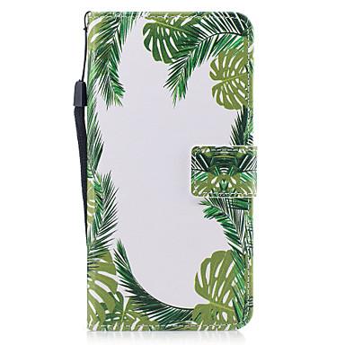 Etui Käyttötarkoitus Apple iPhone 7 Plus iPhone 7 Korttikotelo Lomapkko Tuella Flip Magneetti Kuvio Suojakuori Puu Kova PU-nahka varten