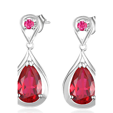 Visací náušnice Jedinečný design Módní Rozkošný Přizpůsobeno Euramerican luxusní šperky Klasický Elegantní Měď Pokovená platina Sklo