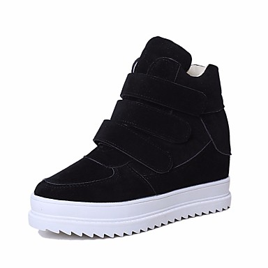 Naiset Kengät Tyll PU Kevät Comfort Bootsit Käyttötarkoitus Kausaliteetti Musta Harmaa