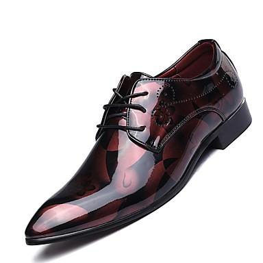 Miehet kengät Aitoa nahkaa Kaikki vuodenajat Comfort Oxford-kengät varten Kausaliteetti Hopea Punainen Sininen