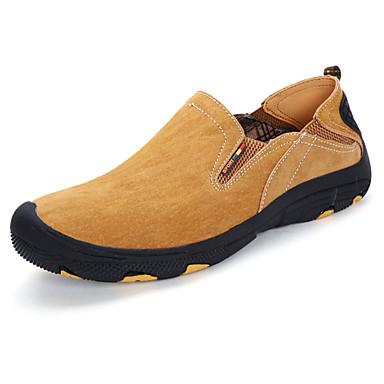 Homens sapatos Couro de Porco Primavera Outono Conforto Mocassins e Slip-Ons para Ao ar livre Cinzento Amarelo Café Khaki