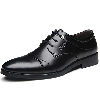 Men's Formal Shoes Faux Leather / Patent Leather Fall / Winter Oxfords Black / Party & Evening