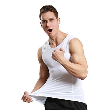 Homens Regata de Corrida Secagem Rápida Respirável Redutor de Suor Confortável Malha Íntima Blusas para Exercício e Atividade Física