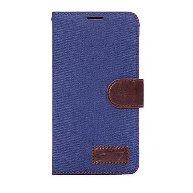 Capinha Para Samsung Galaxy A5(2017) A3(2017) Porta-Cartão Carteira Com Suporte Flip Capa Proteção Completa Côr Sólida Rígida Têxtil para