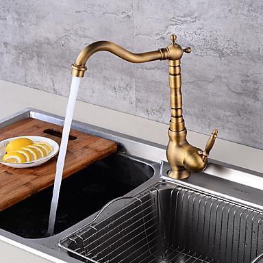 Moderne Mittellage Keramisches Ventil Ein Loch Antikes Kupfer, Armatur für die Küche