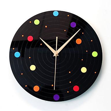 Modern/Zeitgenössisch Leger Orte Wanduhr,Kreisförmig Neuheit Acryl Drinnen Uhr