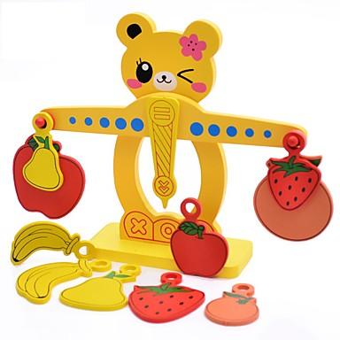 Ábaco Jogos de Madeira Brinquedos Brinquedos Fruta Madeira Natural Unisexo Peças