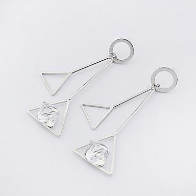 Dámské Visací náušnice Módní Euramerican Měď Sklo Geometric Shape Triangle Shape Šperky Pro Ležérní