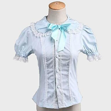 Classic Lolita Dress Princess Women's Teen Girls' Blouse/Shirt Cosplay Short Sleeves