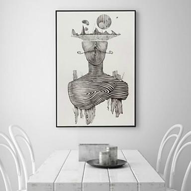 Abstrakt Gerahmte 3D Kunst Wandkunst Stoff Mit Feld For Haus Dekoration Rand Kunst Wohnzimmer Schlafzimmer Kinderzimmer 1piece / Set