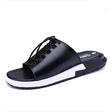 Miehet kengät PVC Kesä Tossut & varvastossut Käyttötarkoitus Valkoinen Musta