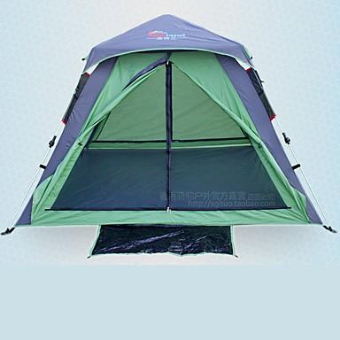 3-4 Personen Zelt Doppel Camping Zelt Einzimmer Automatisches Zelt für Camping Reisen CM