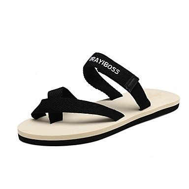 Miehet kengät PU 봄/Syksy Kesä Comfort Sandaalit varten Kausaliteetti Puku Musta Beesi Punainen