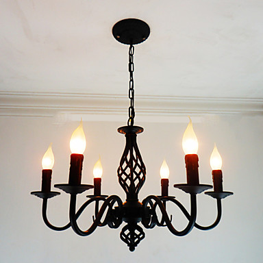 6-Light Candle-style Chandelier Ambient Light - Candle Style, 110-120V / 220-240V Bulb Not Included / 10-15㎡