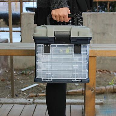 Uskladnění rybářských potřeb box na sedačku 4 Tácy Prvotřídní ABS PP 27*18 cm*17