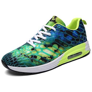 Homens sapatos Couro Ecológico Primavera Outono Conforto Tênis Corrida Cadarço para Casual Roxo Verde Claro