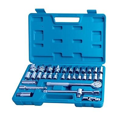 Hongyuan / halten 32-teiliges Hülsen-Werkzeugsatz gerändelter Schaft / 1 Satz