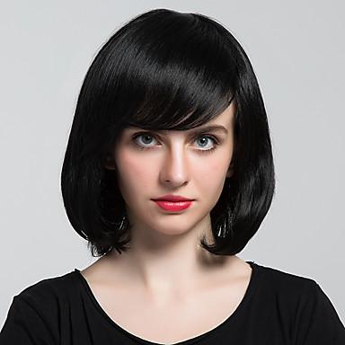 Menschliches Haar Capless Perücken Echthaar Natürlich gewellt Klassisch Gute Qualität Maschinell gefertigt Perücke Alltag