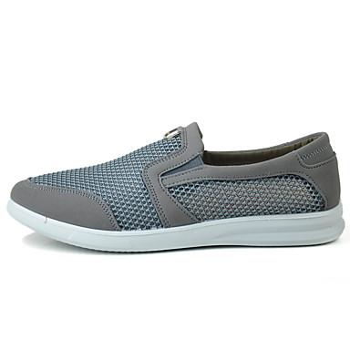 Homens sapatos Tule Estações Cruzadas Verão Conforto Mocassins e Slip-Ons Caminhada para Casual Ao ar livre Cinzento Café
