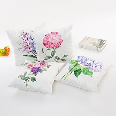 1 Stück Seide Kissenbezug,Blumen Modern/Zeitgenössisch